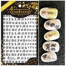 Newest TSC sereis TSC-159-160-153 letter 3d nail art sticker nail decal stamping export japan designs rhinestones  decorations takara tsc 10 cu