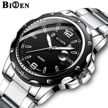 BIDEN Luxury Brand Calendar Quartz Business Men Watch