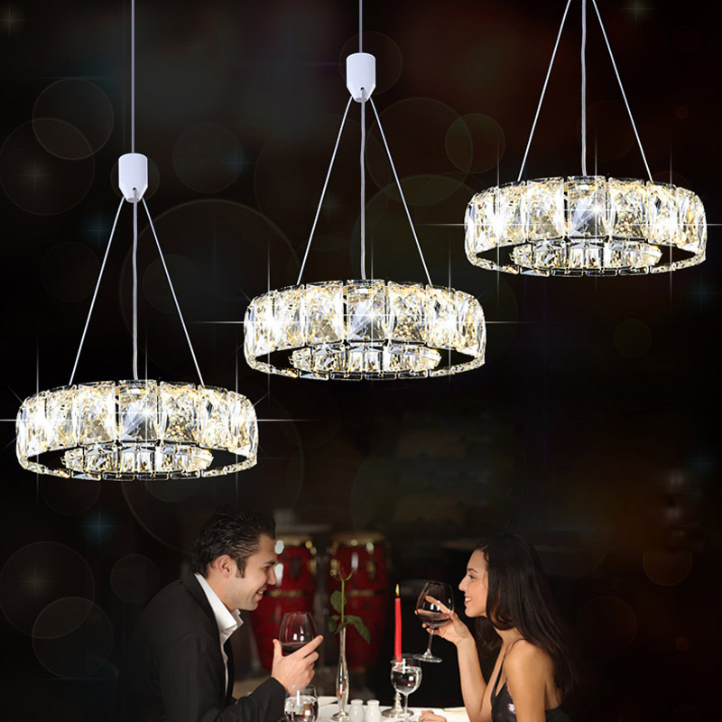 Modern Pendant Lights Crystal Pendant Lamp Lustres De Cristal Led Strip Home Lighting Luxury Suspension Luminaire Abajur Avize