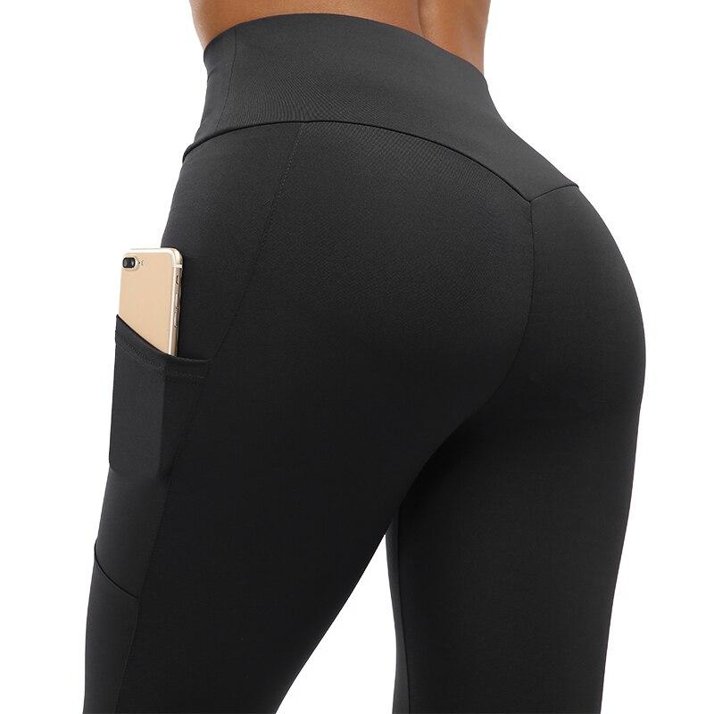 NORMOV de cintura alta aptitud Leggings mujeres entrenamiento Legging con bolsillos Patchwork Leggins, pantalones de las mujeres de ropa de Fitness