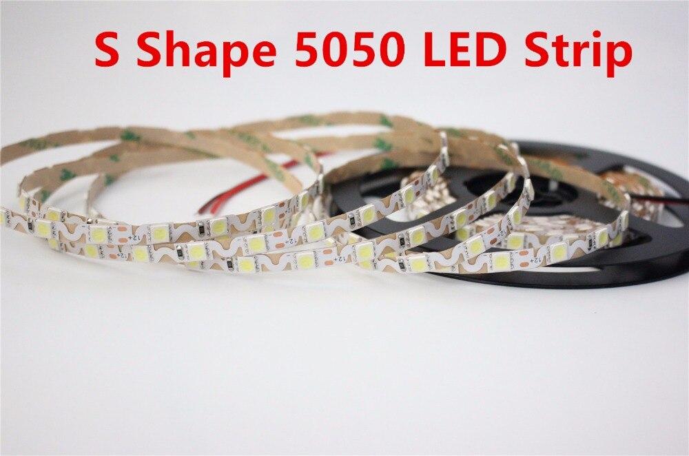 5M LED Strip 5050 300 Leds 12V Ultra narrow 6mm S Shape Signages Channel Light Strip Bendable billboard lamps Replace LED Module