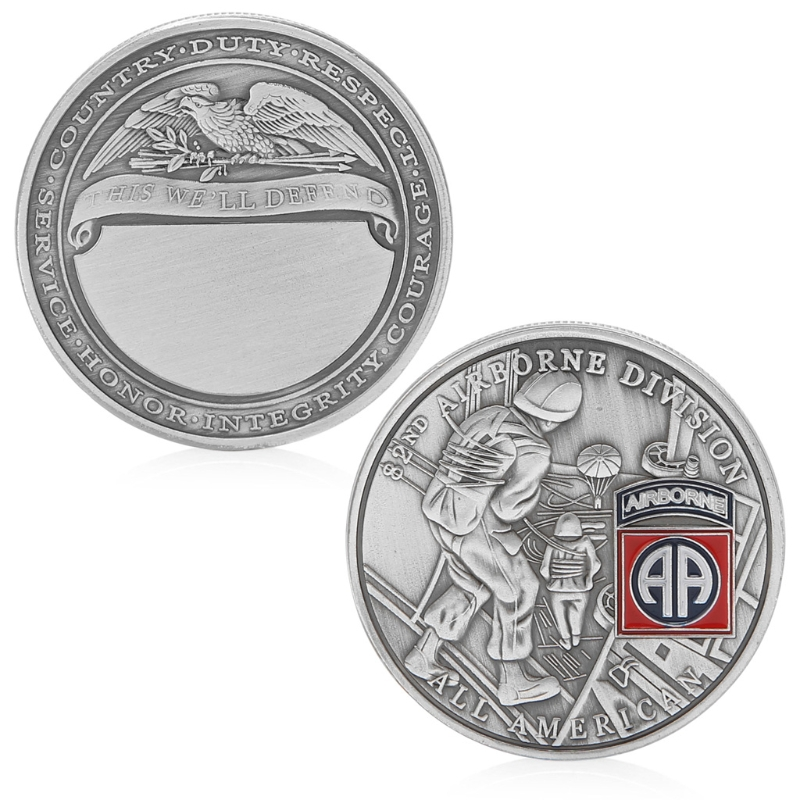 US $1 48 25% OFF|Coins 82nd Airborne Division All American Commemorative  Challenge Coin Collection-in Non-currency Coins from Home & Garden on