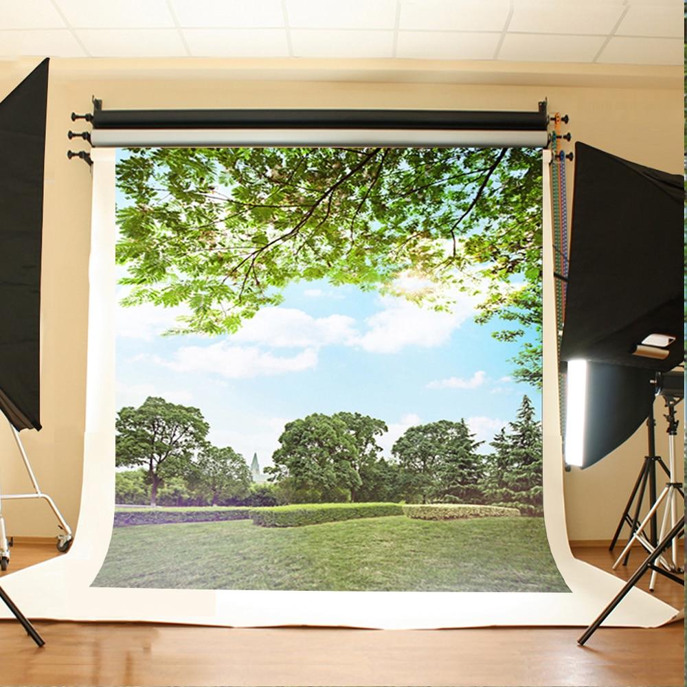 10x10ft зеленый природа фон для фотосъемки на заказ Свадьба вид страны фоны для фото стенд камера Fotografia