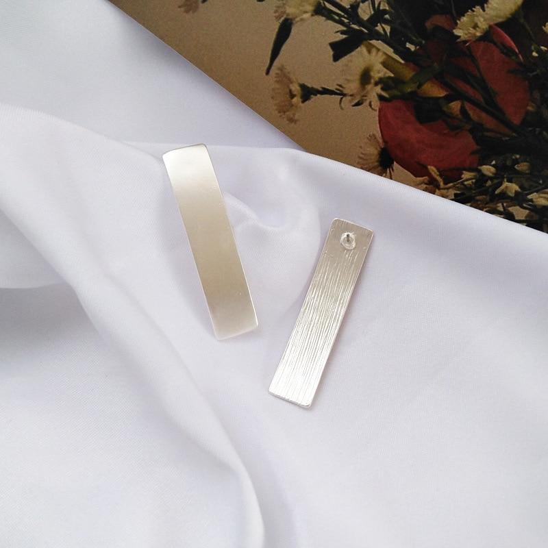 Fashion Metal Smooth stud Earrings Trend Geometry Square Earrings For Women
