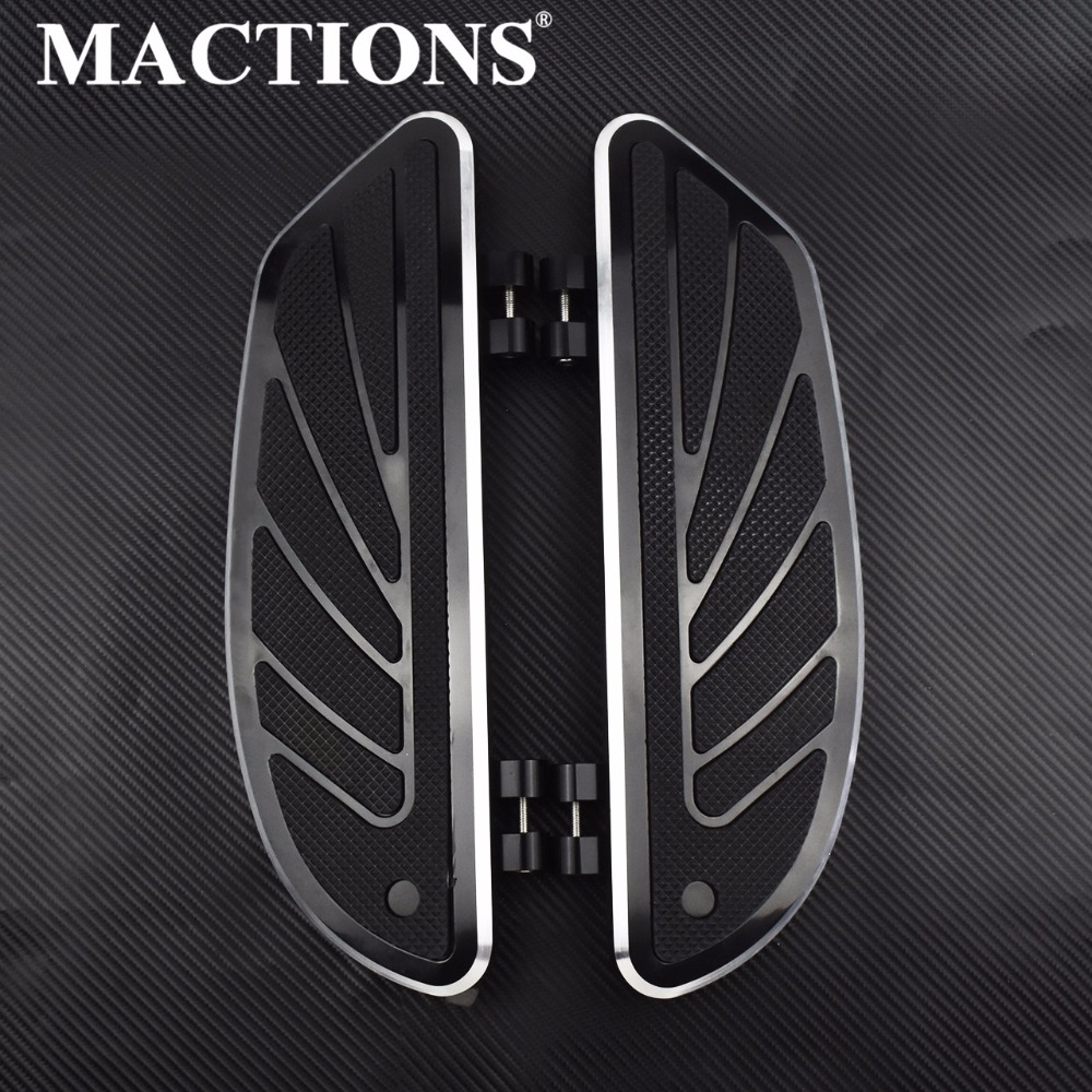 Motorcycle Airflow Rider Footboard Extensions Insert Black Floorboard For Harley Dyna FLD 2012 2016 Touring Electra