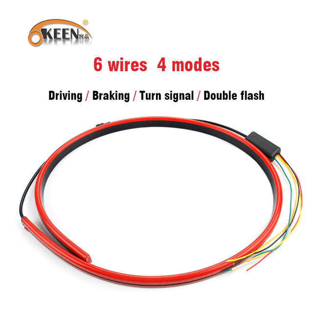 Cool Okeen 12V Flexible Car Additional Brake Led Lights Red Flasher Wiring 101 Capemaxxcnl