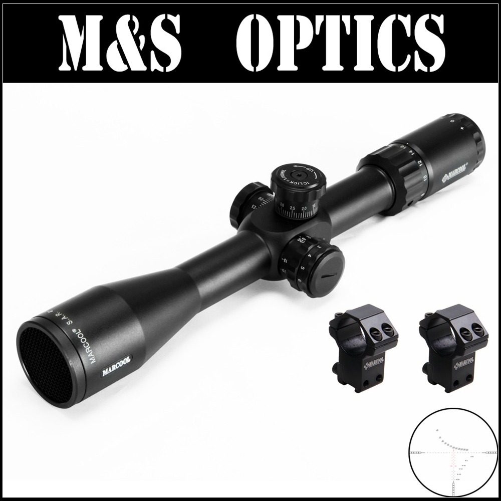 Marcool EVV 4 16X44 SFIR FFP Under 7 62 Bullet Gun Tactical Rifle Scope Reticle Optics