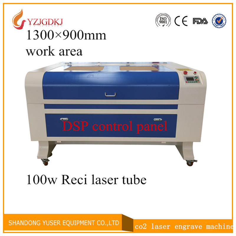 Free Shipping 1390 w2 100w Reci laser tube Laser Engraving 1300*900mm Co2 Laser Cutting Machine ruida DSP control panel