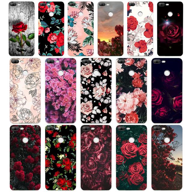 287 H Valentine của hoa hồng ngày flowers Mềm Silicone Tpu Bìa Trường Hợp điện thoại cho huawei Honor 9 Lite 10 p 9 10 lite