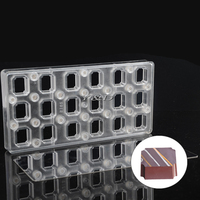 Rectangular Transparent Magnetic Polycarbonate PC Chocolate Cake Molds Transfer Magnet Sheets Mould With Mirror Steel Plate