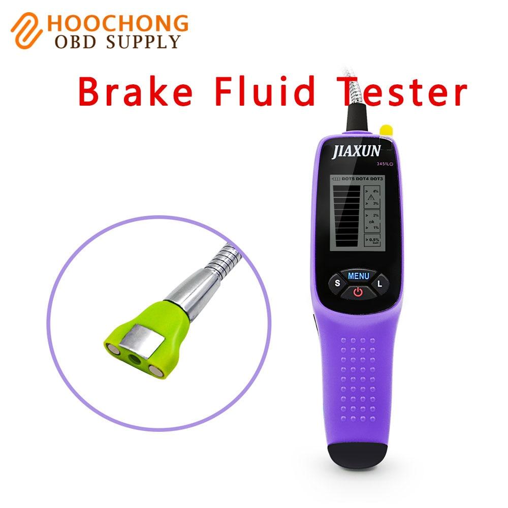 Jiaxun 3451L brake fluid tester digital inspección probador del líquido de frenos con luces LED y pantalla grande