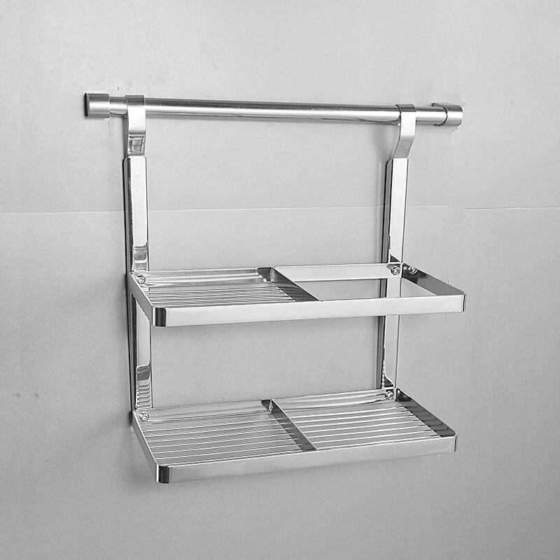 Küche gewürz Rack edelstahl 304 küche anhänger hängen rack abfüllung würze halterung doppel hängen stange LU5174