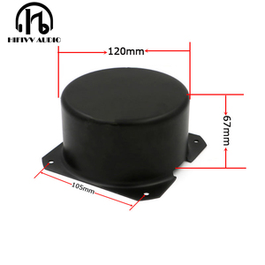 Image 1 - HIFivv الصوت حلقية محول التعميم تغطية الخارجية حجم هو 120*67 ملليمتر أسود المعادن المعادن درع غطاء