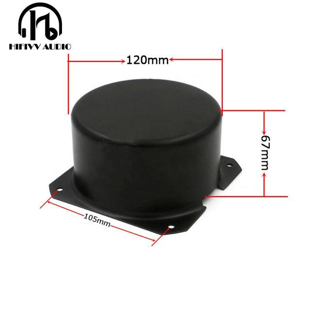 HIFivv الصوت حلقية محول التعميم تغطية الخارجية حجم هو 120*67 ملليمتر أسود المعادن المعادن درع غطاء