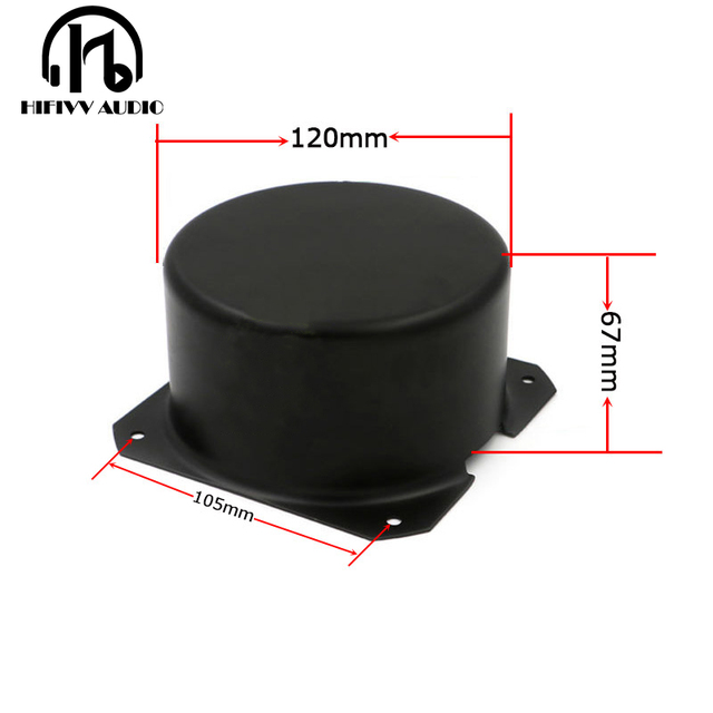 HIFivv audio toroidal transformer circular cover the external size is 120*67mm balck metal Metal Shield cover
