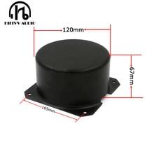 HIFivv ses toroidal trafo dairesel kapak dış boyutu 120*67mm siyah metal Metal Kalkan kapağı