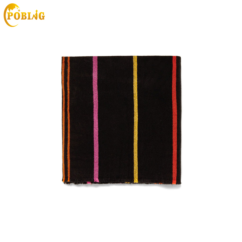 POBING Brand New Za Winter   Scarf   Women Striped Cashmere   Scarves     Wraps   Basic Acrylic Wram Shawls Female Bufandas Blanket   Scarf
