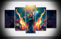 7345 Lee Sin in flames League of Legends Poster wood Framed Gallery wrap art print home wall decor Gift wall picture