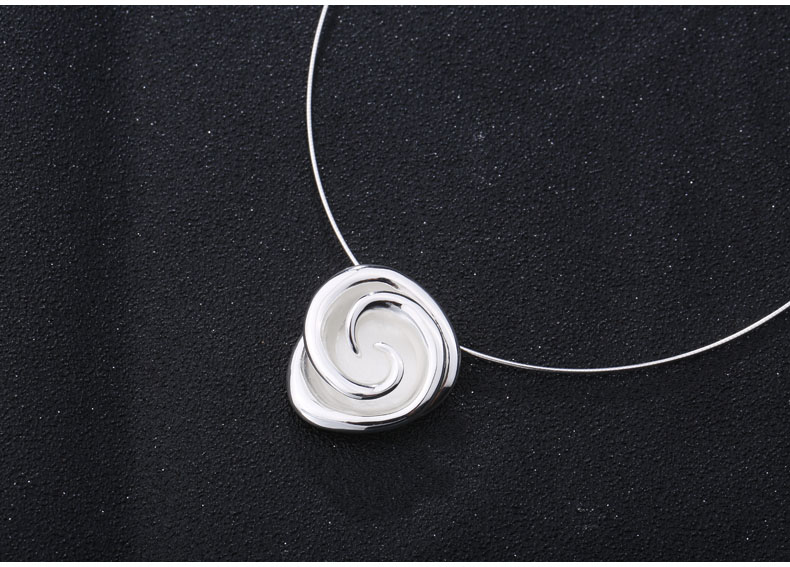 SA SILVERAGE 925 Sterling Silver Rose Chokers Necklaces for Women Flower 925 Silver Pendant Statement Necklaces Fine Jewelry
