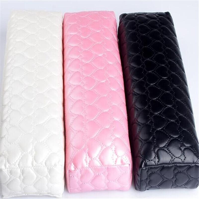 1 Pclove Herz Plaid Muster Leder Stoff Hand Ruht Waschbar Hand Kissen Kissen Halter Nail Art Kleine Maniküre Kissen Kissen