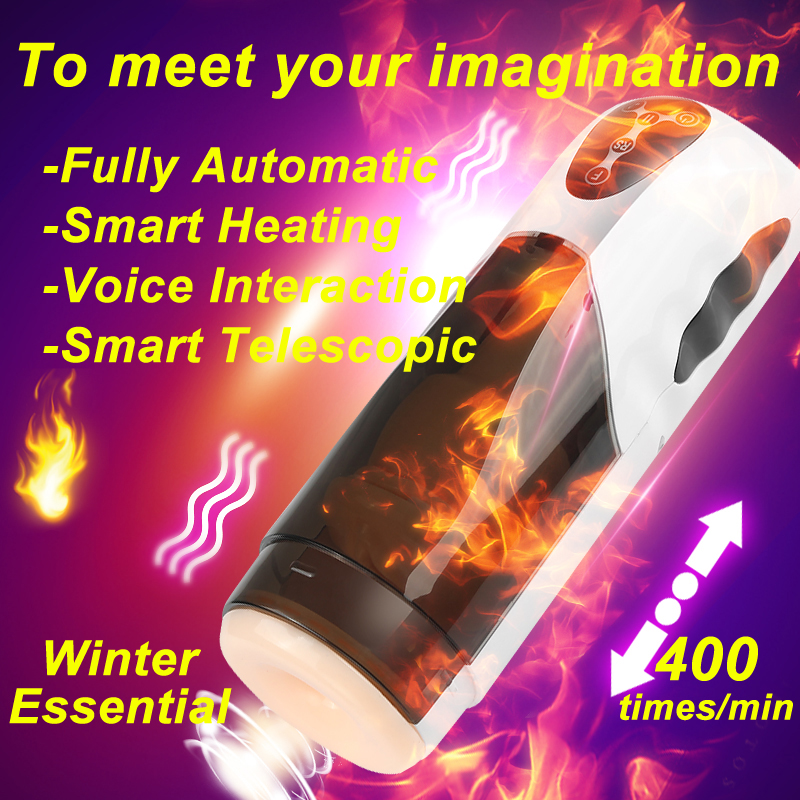 EASY.LOVE.L Artificial Vagina Piston Male Masturbator Intelligent Heating Telescopic Sex Machine Girl Sex Moan Sex Toys for Men new japan rends automatic telescopic piston heating male masturbator cup rechargeable sex machine electric sex toys for men