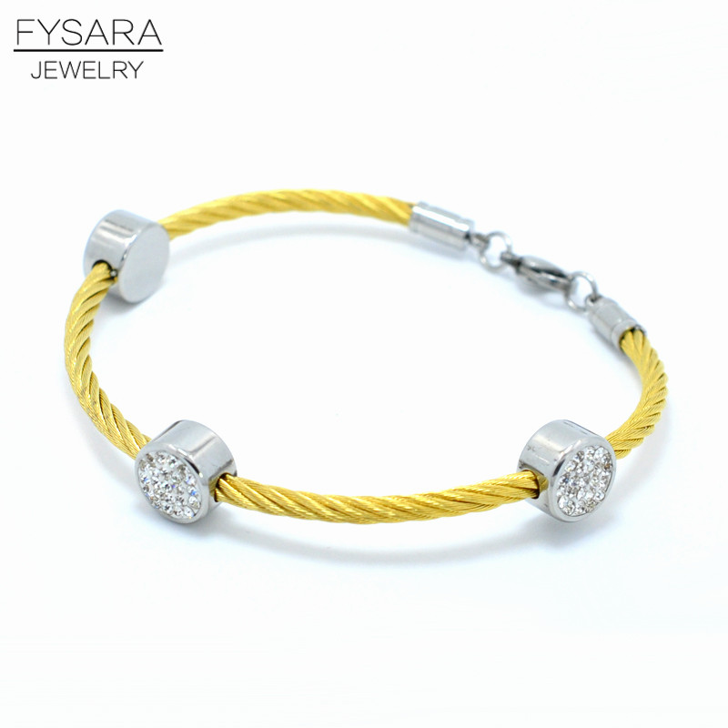 Luxury Brand Trendy Lobster Charm Bracelets Women Twist Cable Bracelet Black Gold Crystal Jewelry Accessories Bangles For Women