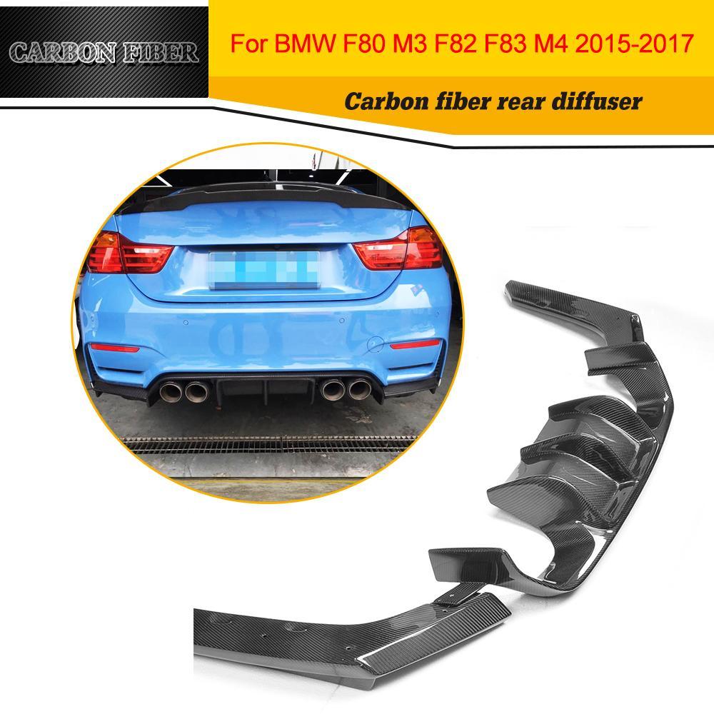 Car Styling Carbon Fiber Rear Bumper Lip Diffuser For BMW F80 M3 F82 M4 2014 2017
