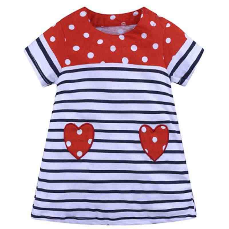Новое платье для девочек Хлопковое удобное платье в черно-белую полоску с короткими рукавами платье для девочек с вышивкой платье для девочек с аппликацией в виде самолета