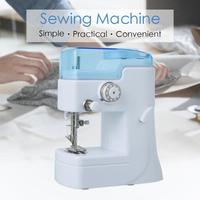 1PC Mini Portable Sewing Machine Electric Household Stitching Machinery For DIY Mend Clothes Foot Pedal 3