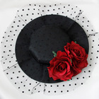 women Headwear female hair clip wine red rose floral hats black hairpin mesh retro prom night party elegant 2018 vintage new