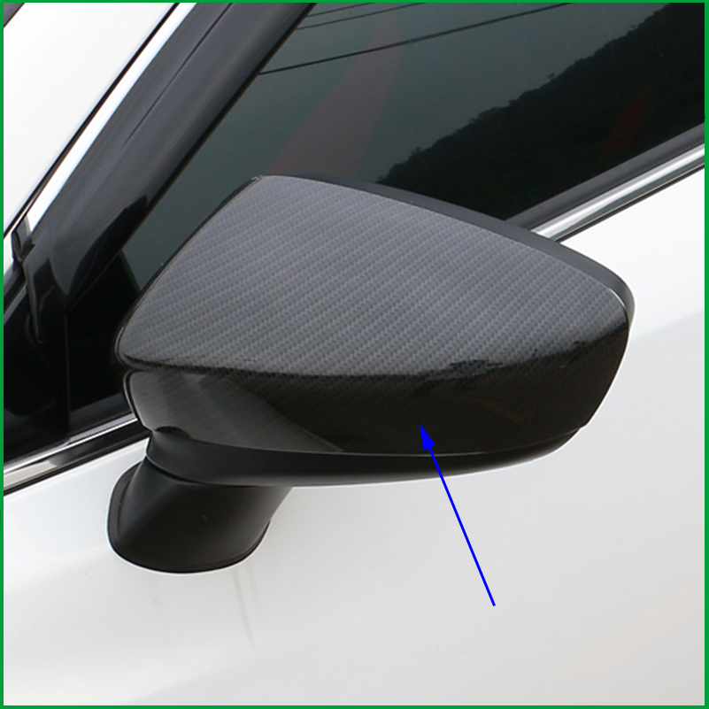For Mazda 6 M6 Atenza 2014-2016 ABS Carbon Fiber Print Extetior Side Door Back Mirrors Rear View Mirror Cover Trim Car-Styling цены