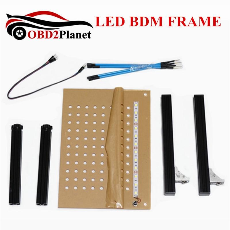 Livraison rapide LED BDM cadre avec 4 sonde ensemble complet BDM programmeur pour KTAG K-TAG KESS V2 Fgtech BDM100 voiture ECU puce Tuning outil