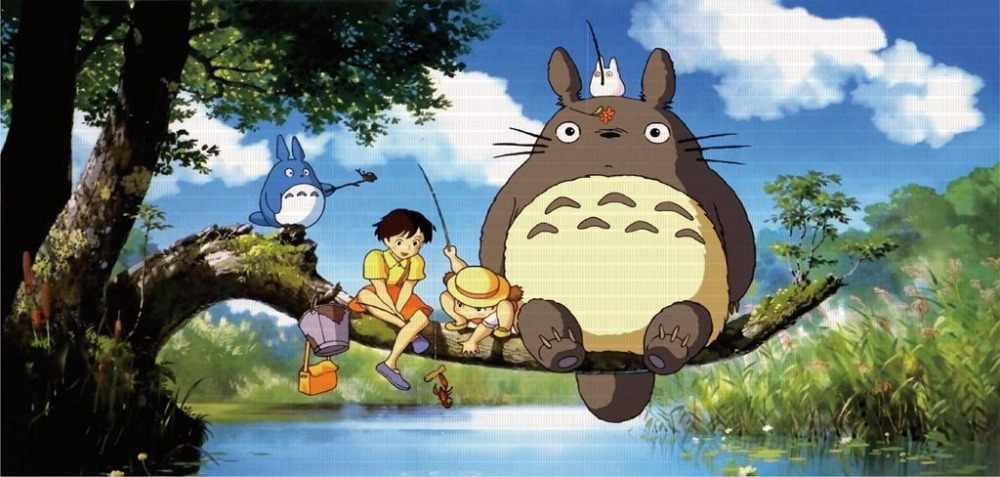 Drôle créatif Totoro voiture autocollants pour voiture fenêtre arrière mignon décalcomanies amovible (147 cm * 70 cm)