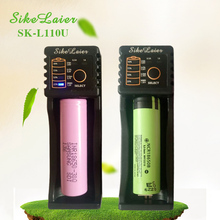 2pcs Sikelaier SK-L110U 1.2 3.7 3.2 3.85AA/AAA18650 18350 26650 10440 14500 16340 25500NiMH lithium battery smart Battery charge цена