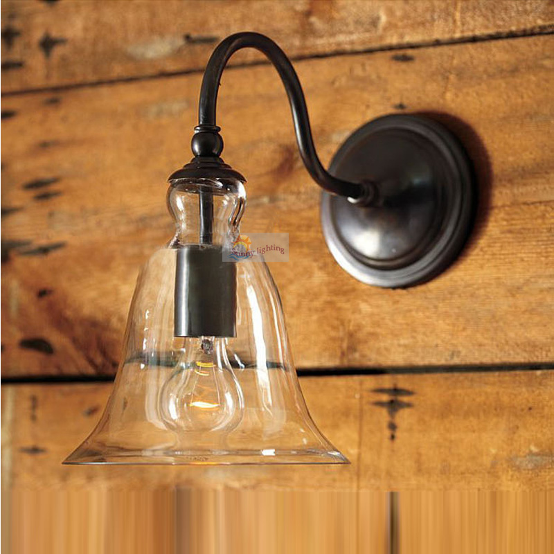 Cafe Antique black wrought iron wall lamps for dining room clear glass porch light clear glass lamp shade walkway wall fixtures