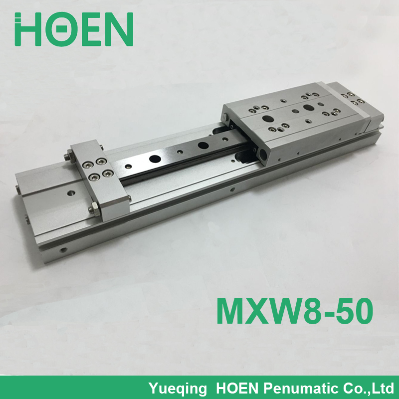 MXW 8-50 Slide Cylinder Air Slide Table Series MXW SMC cylinder pneumatic air cylinder High quality mgpm63 200 smc thin three axis cylinder with rod air cylinder pneumatic air tools mgpm series mgpm 63 200 63 200 63x200 model