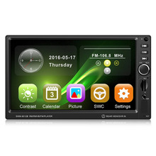 New 7-Inch Large Display Screen Car DVD with Camera Brake Prompt Vehicle Music Player Support Bluetooth Mini TF Card