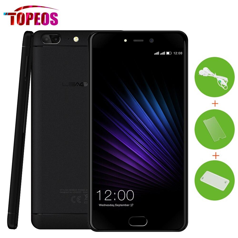 bilder für LEAGOO T5 Android 7.0 5,5 Zoll FHD Smartphone 4 GB RAM 64 GB ROM MTK6750T Octa-core 13MP Dual Hinten Cam Fingerabdruck 4G Mobile telefon