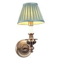 American Iron Bedside Lamp E14 Modern Retro Dark Green Fabric Shade Wall Sconce Aisle Porch Balcony