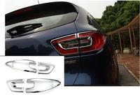 Para Renault Kadjar 2015 2016 2017 2018 no Carro Luzes Da Cauda do Farolim Traseiro Covers Chrome Guarnição Chromium Styling Decoração Externa