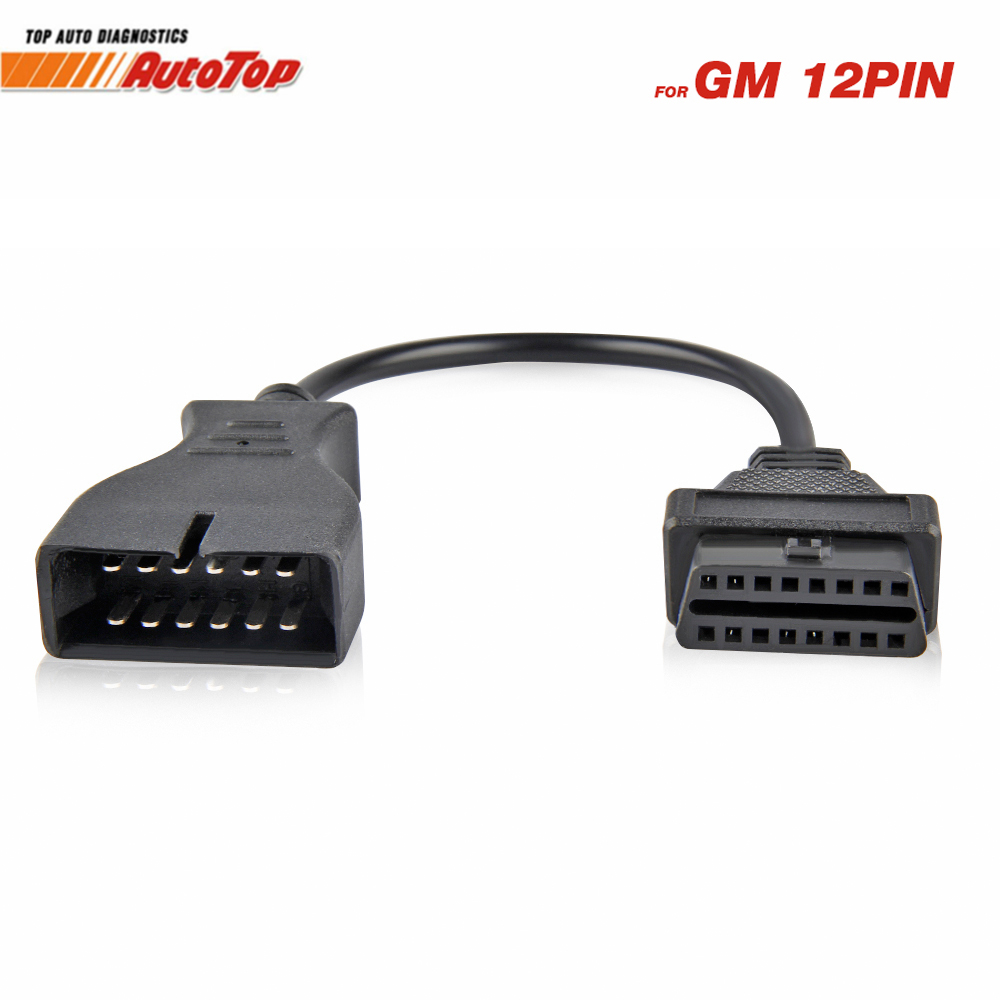 Best GM12 OBD2 Adapter Cable for GM12 Pin ODB Connector to OBD II 16Pin Car Diagnostic Tool Cable for GM 12 Pin Diagnosis Cable obd2 obd cable 16pin male port to dual 16 pin female obdii odb2 car ecu connector adapter obd 2 odb ii automotive tool free ship