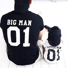 summer 2019 family matching clothes father son t shirt man tshirt daddy and kids outfits dad daughter baby boys girls clothes(China)