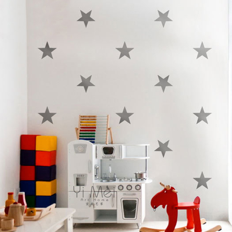 12pcs Colorful Little Stars Vinyl Window Wall Sticker Mural Decal Wallpaper Nursery Kids Baby Room Bedroom 55 90cm Home Decor In Stickers From