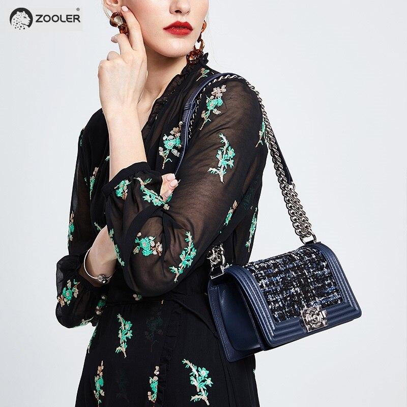 2019 Hot-Zooler donna sacchetto di cuoio genuino borse delle donne del progettista croce corpo borse marche famose del sacchetto di spalla di modo borse # E123