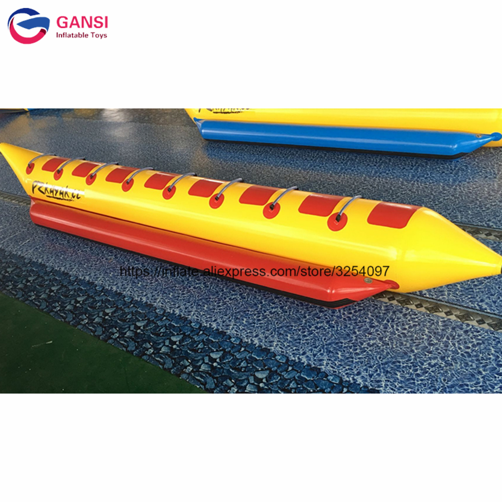 Exciting water sport game flying fish tube,towables fly fish boat,inflatable banana boat for sale free shipping 3 3 1 2m water banana boat for sport games