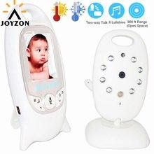 Babyphone vidéo sans fil, avec caméra de sécurité, vision nocturne, audio, 2 voies, moniteur de température, avec 8 berceuses