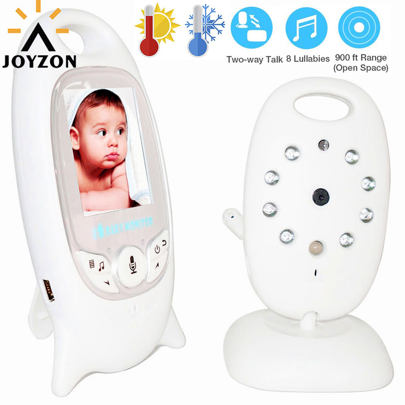 Hot Wireless Video Baby Monitor with Camera Night VisionAudio Security Camera 2 Way Talk Temperature Monitoring with 8 Lullabies-in Baby Monitors from Security & Protection