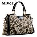 Hot 2016 leopardo del bolso moda mujeres del diseñador del bolso de mano del bolso de crossbody bolsas mujer messenger satchel bolsas femininas venta al por mayor