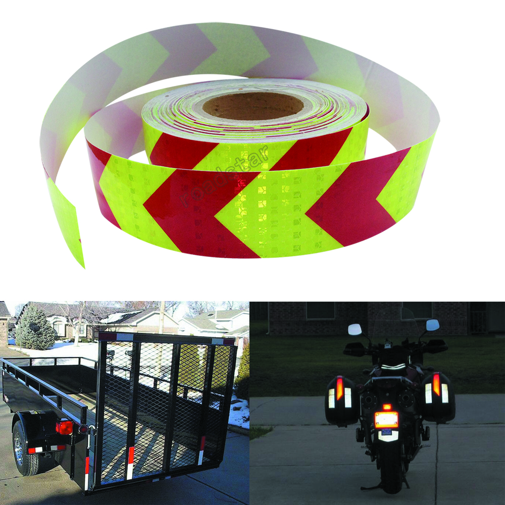 5cmx50m Fluorescent Lime Red Arrow Safety Warning Tape Caution