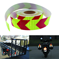 5CMx50M Wholesale fluorescent Lime red arrow safety warning tape caution tape Reflective Safety Warning Conspicuity Tape